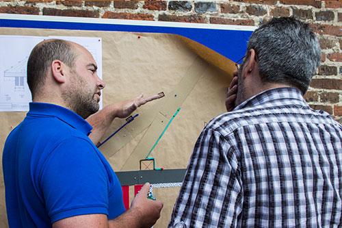 Praktische Übung beim Energieberater für Baudenkmale