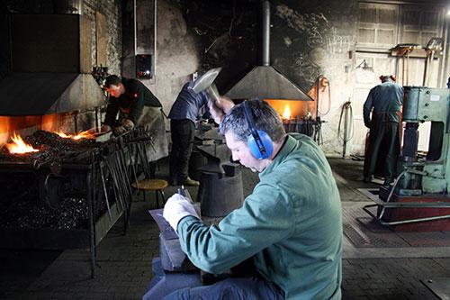 Bild aus einem Metallhandwerk-Seminar